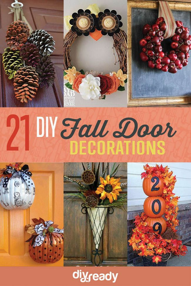 Fotografía - 21 DIY Otoño Decoraciones puerta: Coronas, Perchas Puertas y Más