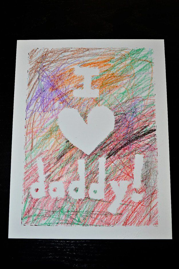 Fácil Handmade Padre's Day Cards from Toddlers | http://artesaniasdebricolaje.ru/21-diy-fathers-day-cards/