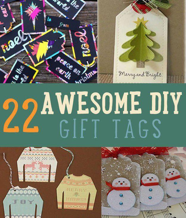 22 impresionantes Etiquetas del regalo de DIY   Christmas Gift Tags