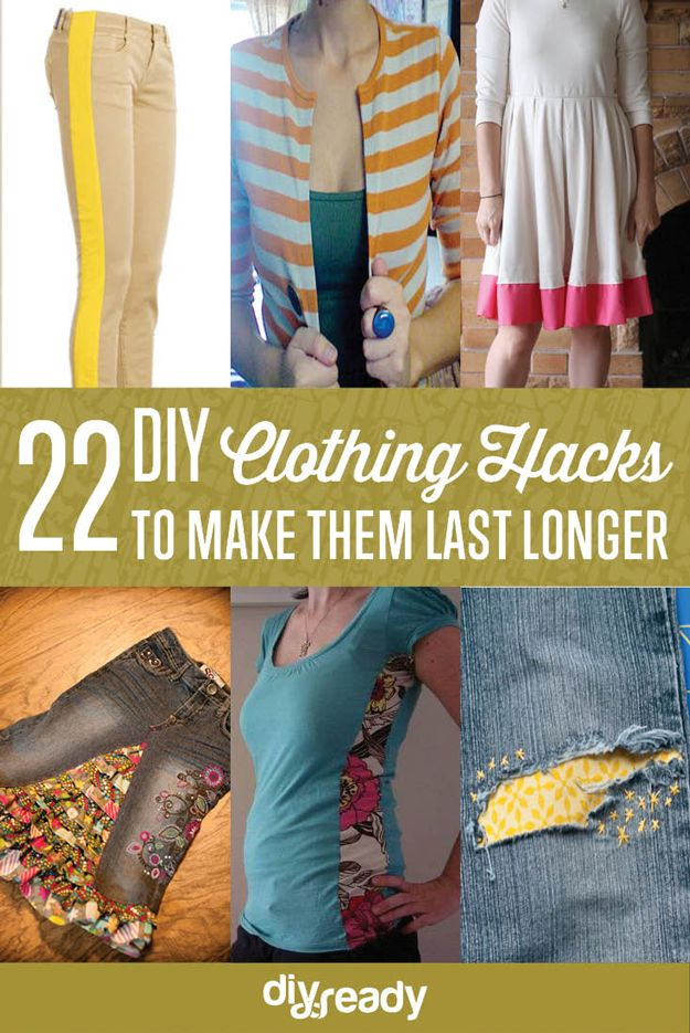 22 DIY Ropa Hacks para que duren más tiempo | http://artesaniasdebricolaje.ru/22-diy-hacks-to-make-your-clothing-last-longer/