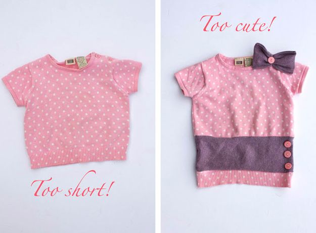 Hacks de vestir de DIY para Niños | http://artesaniasdebricolaje.ru/22-diy-hacks-to-make-your-clothing-last-longer/