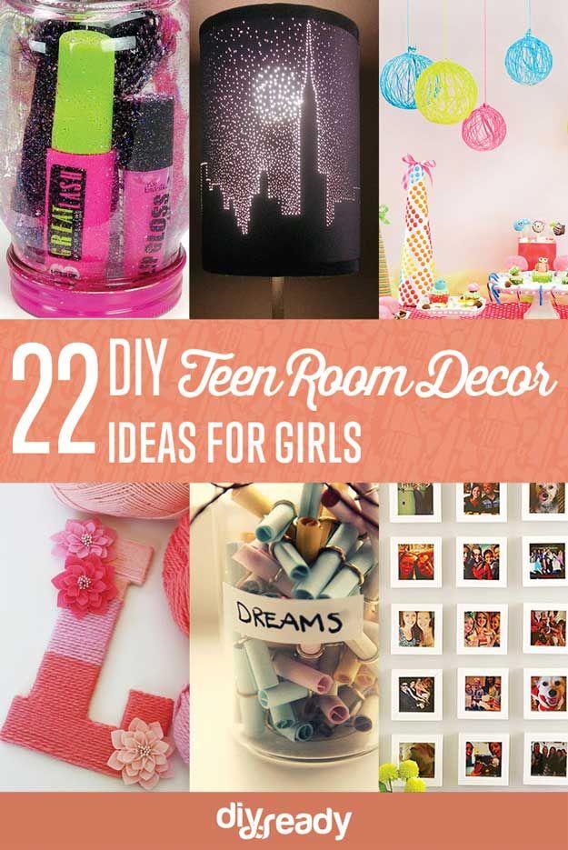 22 DIY fácil adolescente Decoración para habitaciones Ideas para Chicas | http://artesaniasdebricolaje.ru/easy-teen-room-decor-ideas-for-girls/