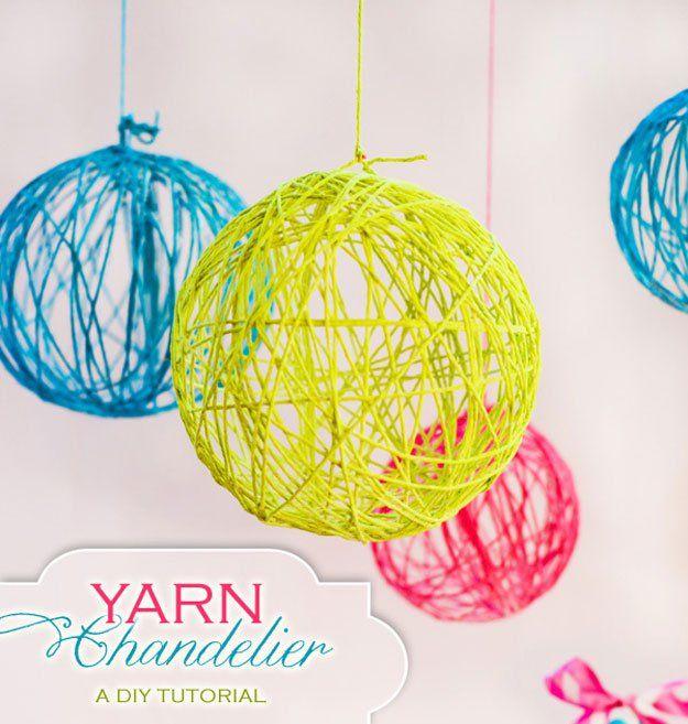 Ideas frescas de la lámpara DIY para la decoración del dormitorio | http://artesaniasdebricolaje.ru/easy-teen-room-decor-ideas-for-girls/