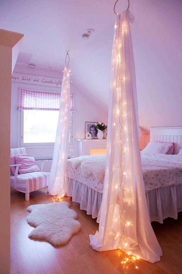 Proyectos DIY frescos para la decoración del dormitorio para niñas | http://artesaniasdebricolaje.ru/easy-teen-room-decor-ideas-for-girls/