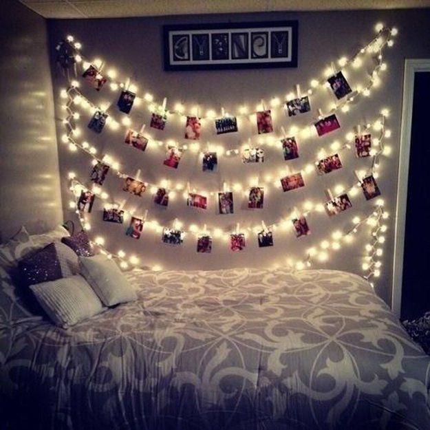 Proyectos de bricolaje de la diversión para Adolescente Decoración Dormitorio | http://artesaniasdebricolaje.ru/easy-teen-room-decor-ideas-for-girls/