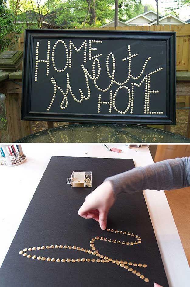 Fácil y divertido arte de la pared de adolescente Room Decor | http://artesaniasdebricolaje.ru/easy-teen-room-decor-ideas-for-girls/