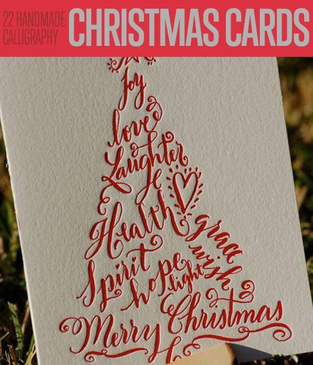 Fotografía - 22 hecho a mano de la caligrafía de Navidad Tarjetas | Tarjetas de Navidad DIY