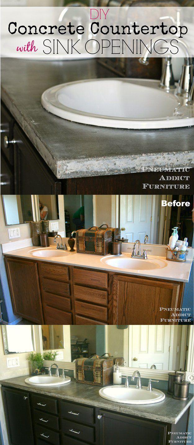 Ideas de bricolaje mejoras para el hogar y sugerencias | http://artesaniasdebricolaje.ru/incredible-diy-bathroom-makeover/