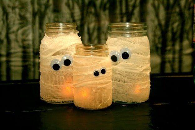 Fácil Mason Jar Artesanía de Halloween