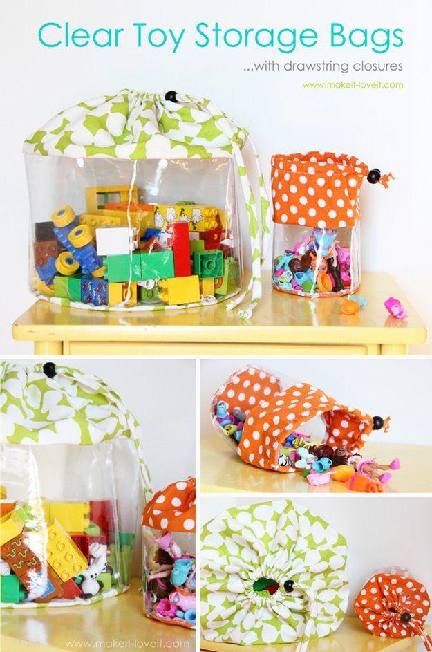 Lindo bolsa de mano hecho en casa juguete Almacenamiento | artesaniasdebricolaje.ru/storage-solutions-life-hack/