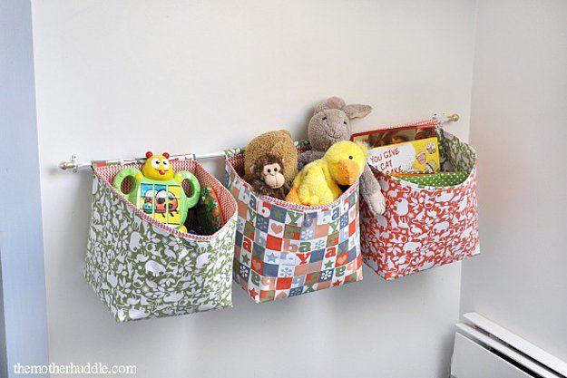 Juguete Creativo casera bolsa de almacenamiento para el dormitorio | artesaniasdebricolaje.ru/storage-solutions-life-hack/