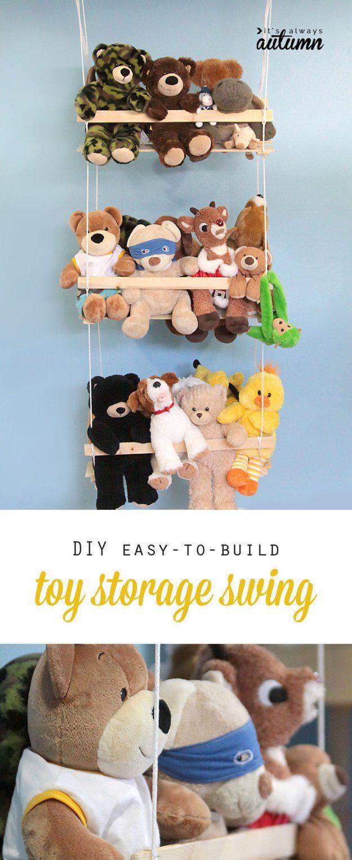 DIY juguetes colgantes de almacenamiento Ideas | artesaniasdebricolaje.ru/storage-solutions-life-hack/