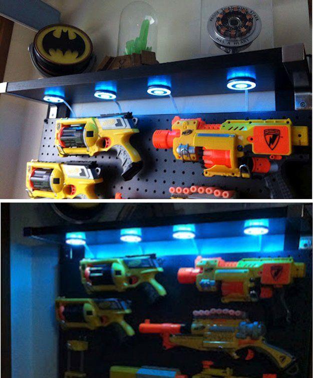 Creativo pared DIY almacenamiento de juguetes para los muchachos Dormitorio | artesaniasdebricolaje.ru/storage-solutions-life-hack/