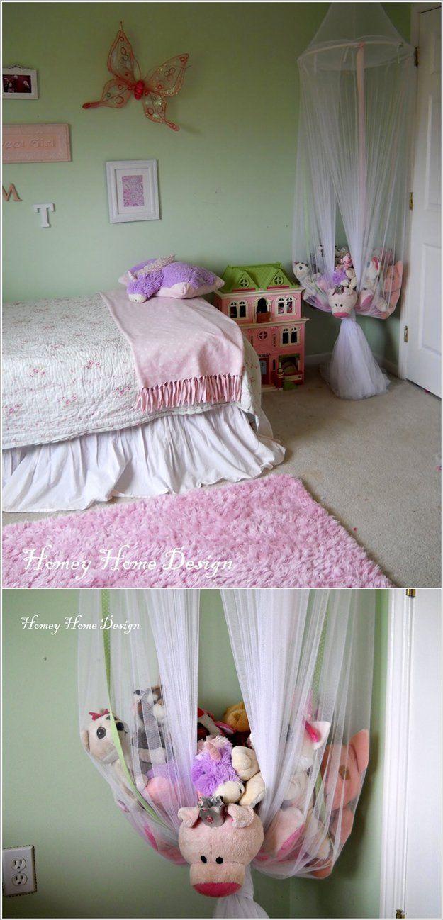 Colgante hecho en casa juguete Almacenamiento Ideas para niñas | artesaniasdebricolaje.ru/storage-solutions-life-hack/
