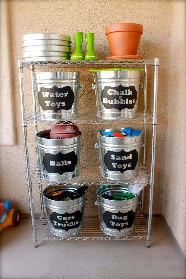 DIY outdoot Toy Storage Ideas | artesaniasdebricolaje.ru/storage-solutions-life-hack/