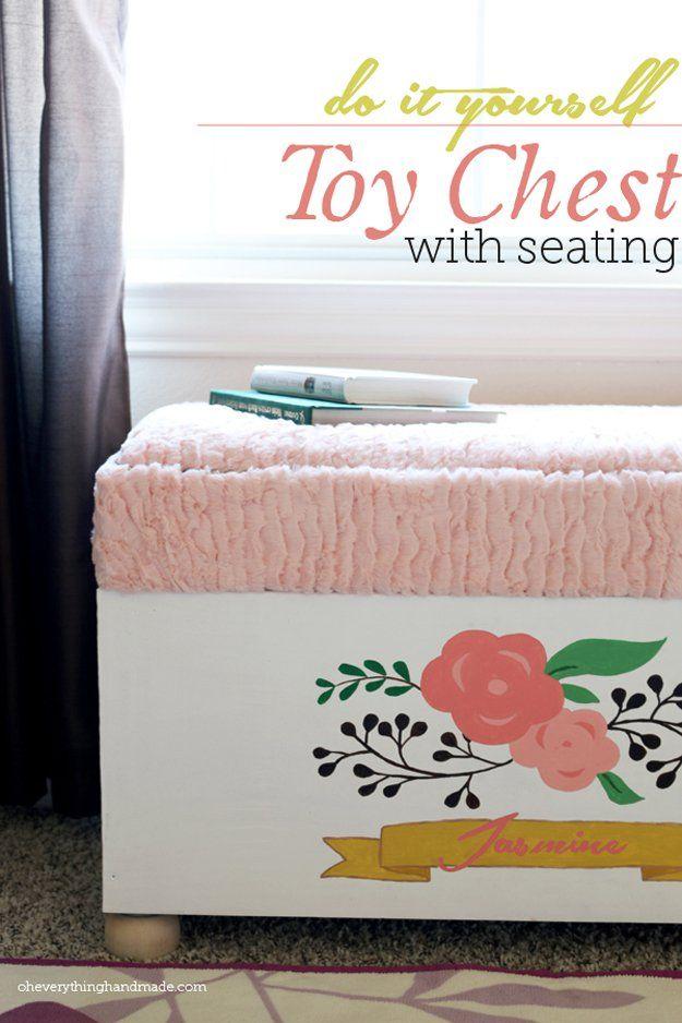 Hecho en casa Barato baúl de juguetes para el dormitorio | artesaniasdebricolaje.ru/storage-solutions-life-hack/