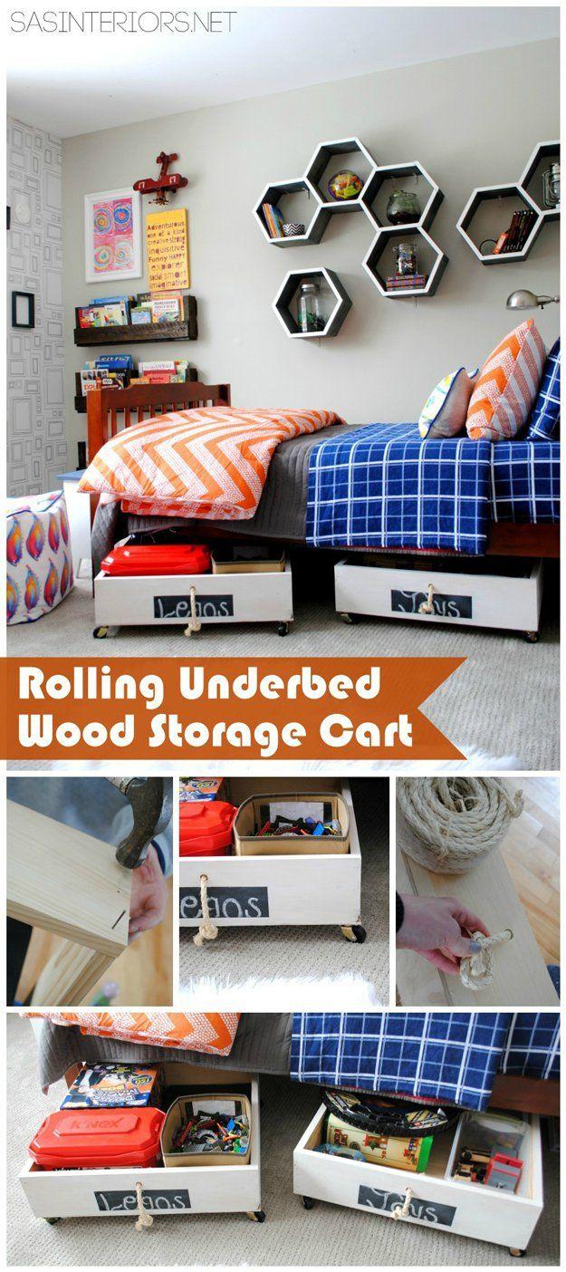 Clever hecho en casa de madera de juguete de almacenamiento Ideas | artesaniasdebricolaje.ru/storage-solutions-life-hack/