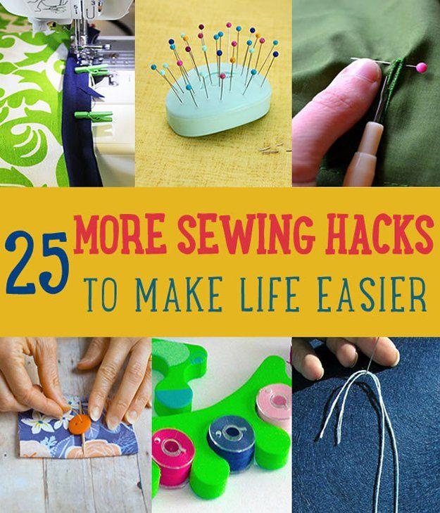 25 Más Hacks de coser para hacer la vida más fácil | http://artesaniasdebricolaje.ru/sewing-ideas-life-hacks/