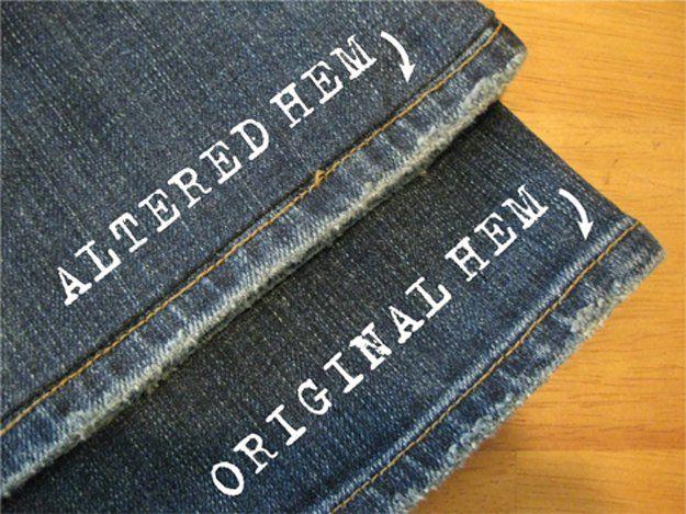 Hacks costura fáciles para Jeans | http://artesaniasdebricolaje.ru/sewing-ideas-life-hacks/