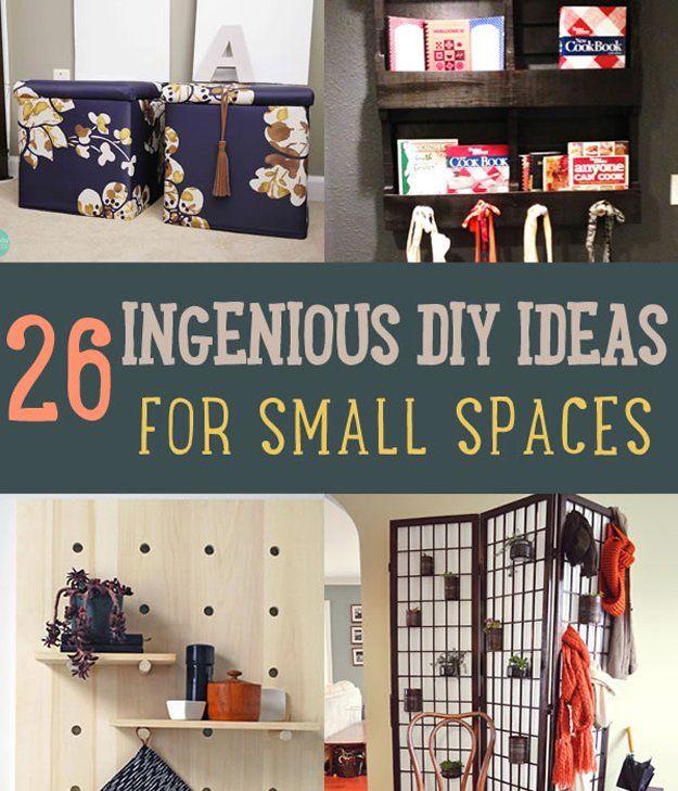 Fotografía - 26 Ideas de bricolaje ingeniosas para espacios pequeños