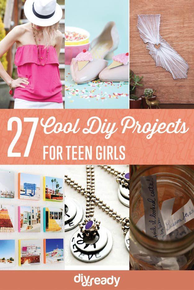 Fotografía - 27 Proyectos de bricolaje frescos para las niñas adolescentes