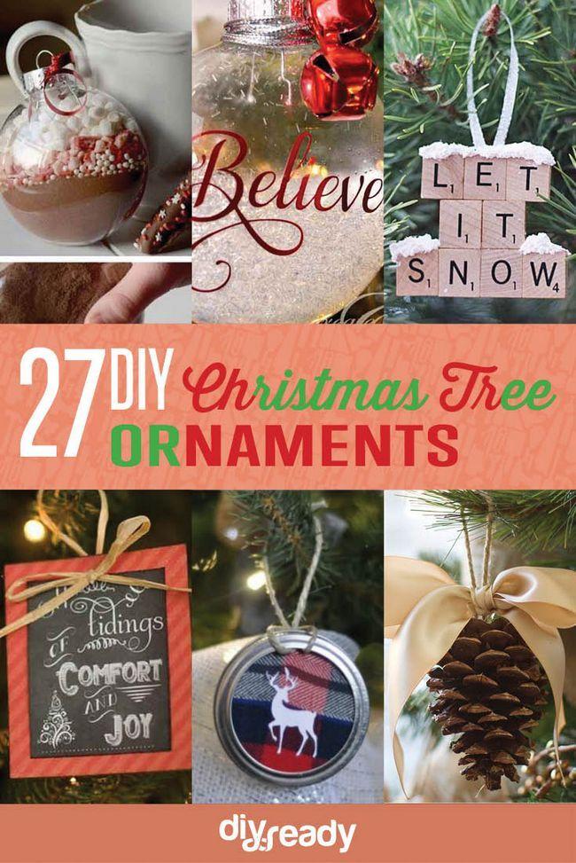 Fotografía - 27 espectacularmente DIY fácil Adornos para su árbol de Navidad