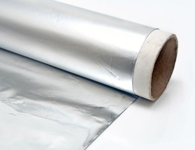 Hecho en casa de plata polaco - con papel de aluminio