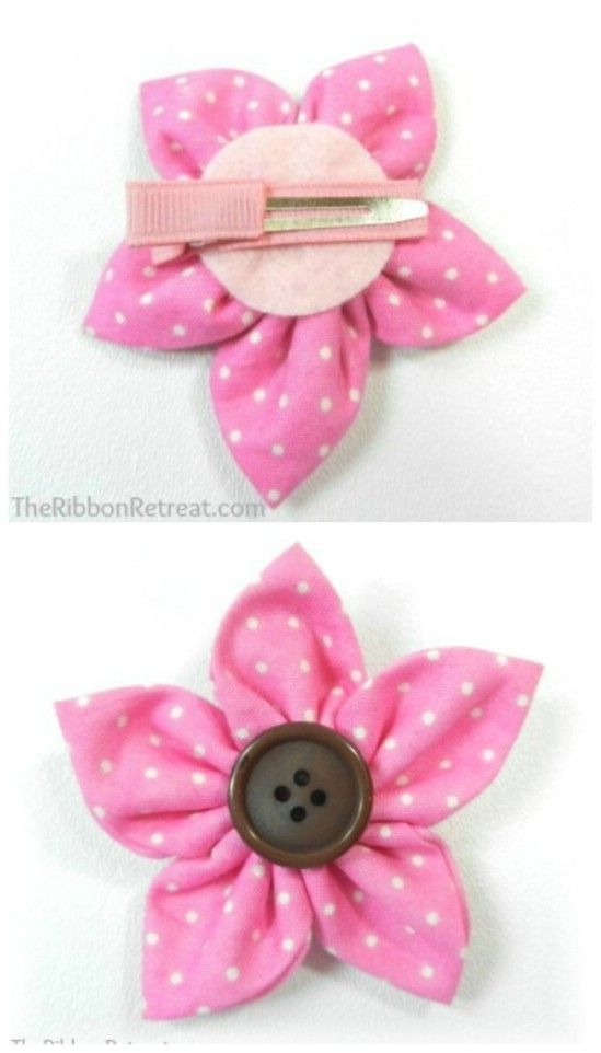 Flor de la cinta - 30 fabulosos y fácil de hacer bricolaje arcos del pelo