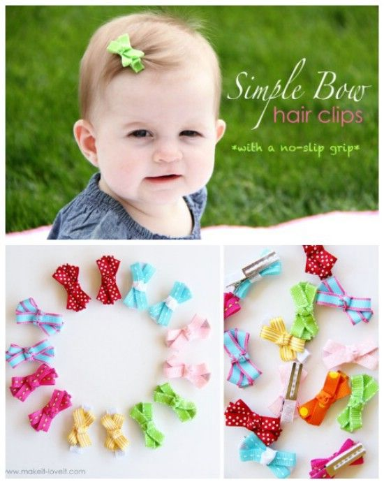 No-Slip Arcos para bebés - 30 fabuloso y fácil de hacer bricolaje arcos del pelo