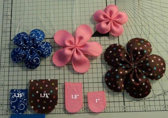 Cinco flor del pétalo del arco - 30 fabulosos y fácil de hacer bricolaje arcos del pelo