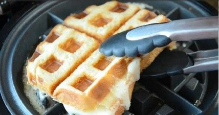 Queso a la plancha - 35 deliciosas comidas no lo hiciste't Know You Could Cook in Your Waffle Iron