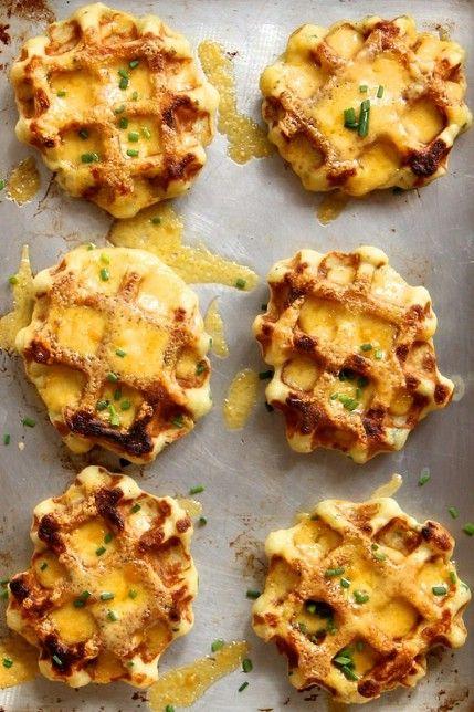 Puré de Papas - 35 deliciosas comidas no lo hiciste't Know You Could Cook in Your Waffle Iron
