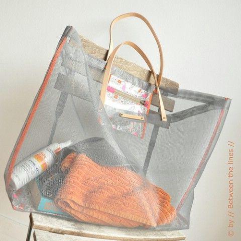 DIY Malla Bolsa de playa Tutorial - 35 Summery bricolaje Proyectos y actividades para el mejor verano