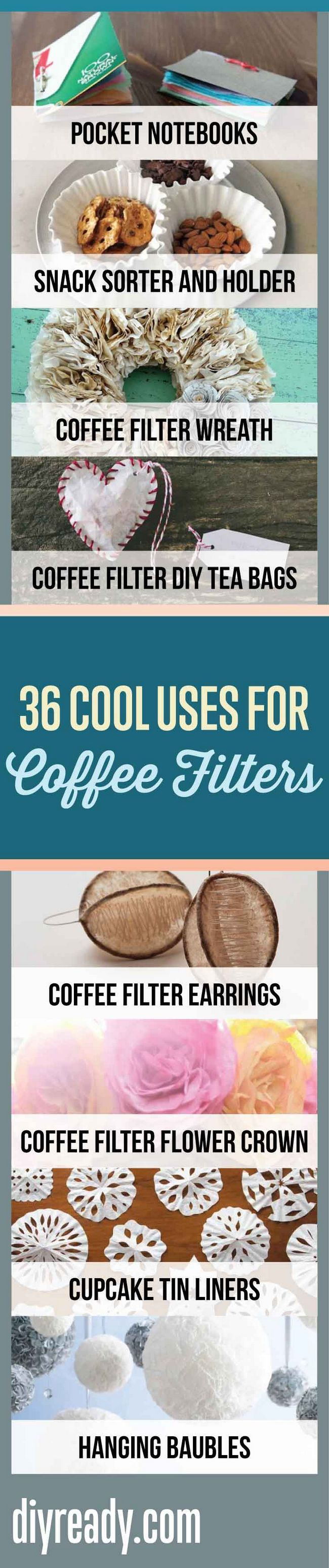 Usos de los Filtros de café | Proyectos y Oficios de bricolaje de bricolaje Listo en http://artesaniasdebricolaje.ru/uses-for-coffee-filters-diy-projects-and-ideas