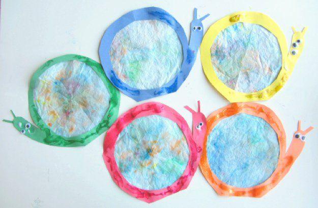 Usos creativos para Filtros de café | Manualidades para niños Ideas de bricolaje Listo en http://artesaniasdebricolaje.ru/uses-for-coffee-filters-diy-projects-and-ideas