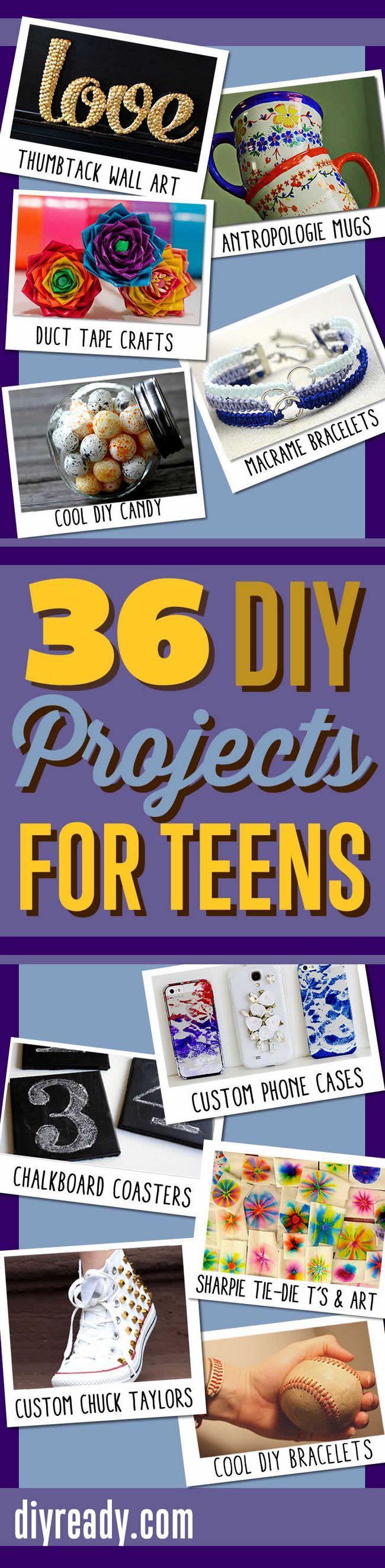36 Proyectos de bricolaje frescos Para Adolescentes | Manualidades y bricolaje Ideas impresionantes para Manualidades para adolescentes http://artesaniasdebricolaje.ru/diy-projects-for-teenagers-cool-crafts-for-teens/ #diy #teens #crafts #pinterest