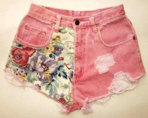 Pantalones cortos Tela artesonadas