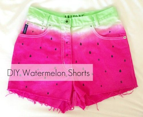 Pantalones cortos sandía bricolaje