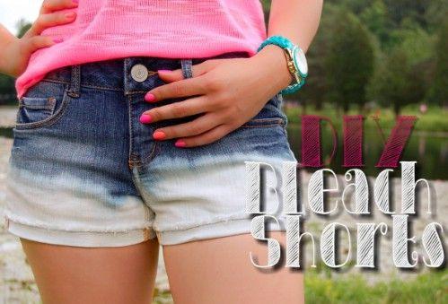 Bricolaje Shorts blanqueo de cruce