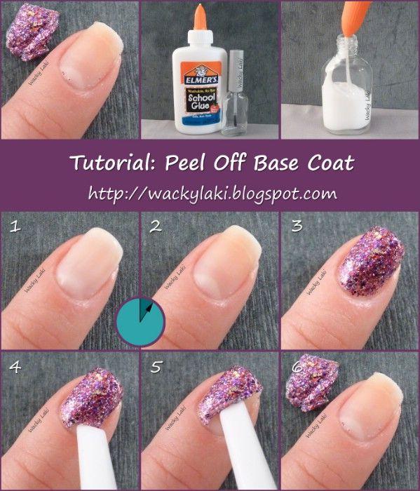 Utilice pegamento para Easy Glitter Nail Remoción polaco - 40 de bricolaje belleza Hacks Que Son Genius Borderline