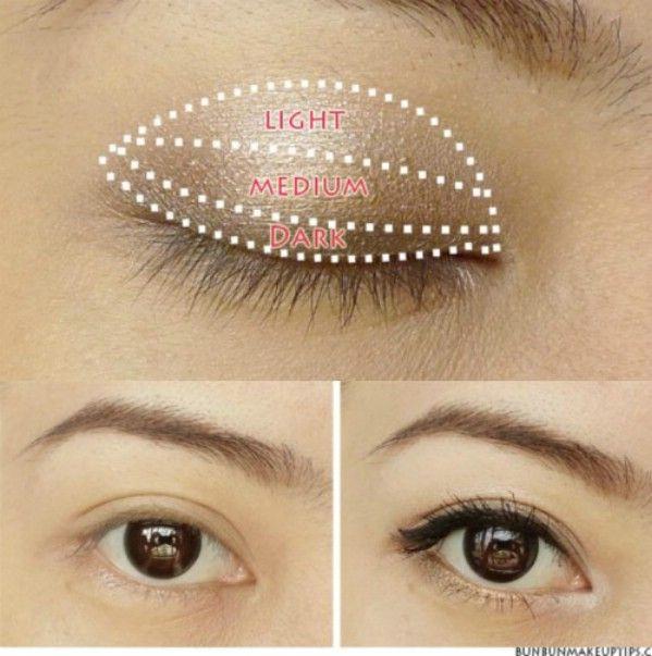 Aplicar maquillaje de ojos como un profesional - 40 de bricolaje belleza Hacks Que Son Genius Borderline