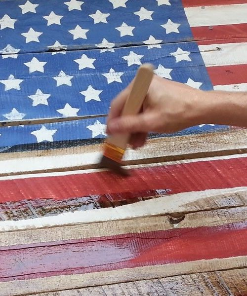 Rústico Bandera Pallet