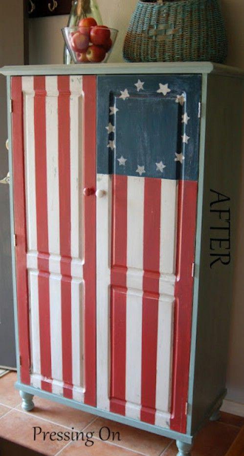 Betsy Ross Gabinete pintado