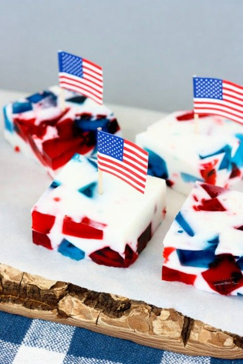Patriótico Vidrieras gelatina
