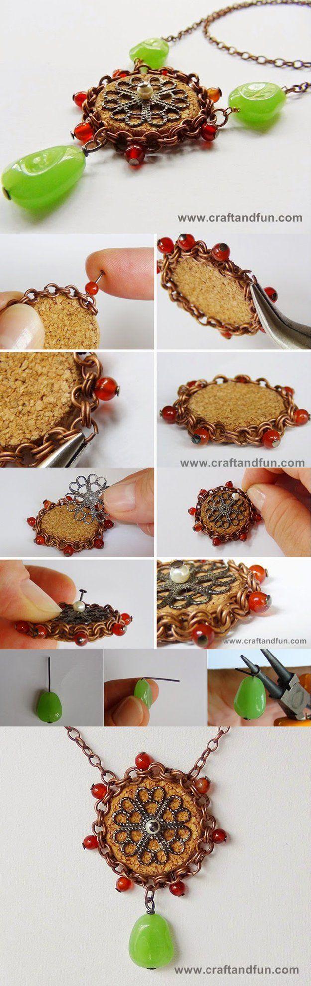 Joyas e Ideas de regalos de artesanía del corcho del vino | http://artesaniasdebricolaje.ru/more-wine-cork-crafts-ideas/