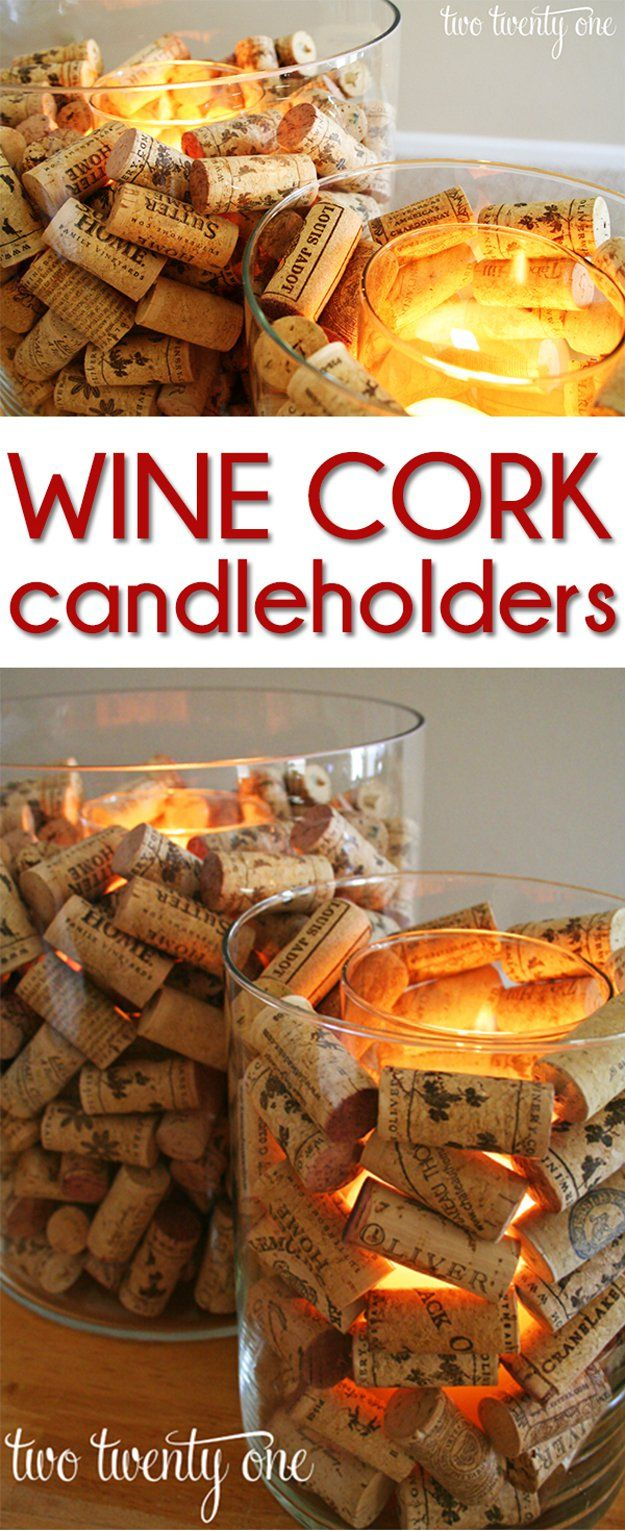Fácil Proyecto Vino DIY Cork | http://artesaniasdebricolaje.ru/more-wine-cork-crafts-ideas/