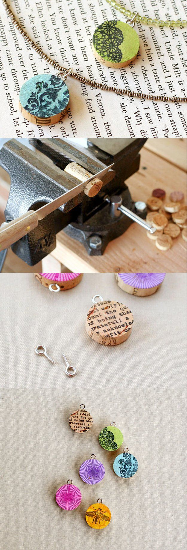 DIY Joyería Cork Wine for Teens | http://artesaniasdebricolaje.ru/more-wine-cork-crafts-ideas/