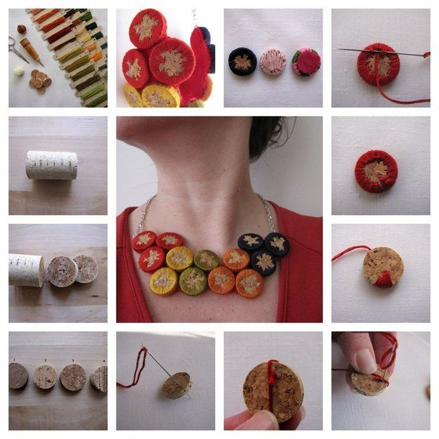 Joyería Ideas Vino Cork y Proyectos | http://artesaniasdebricolaje.ru/more-wine-cork-crafts-ideas/