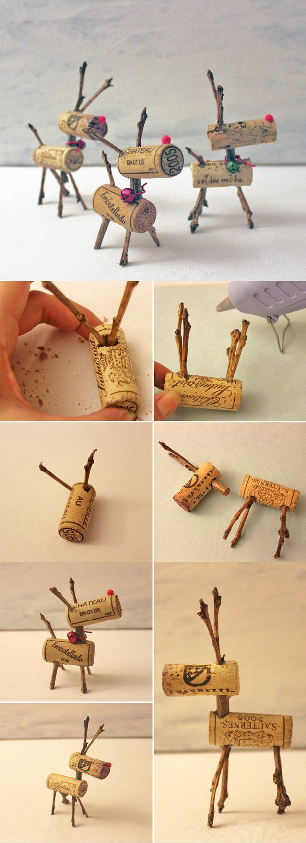 Fácil Vino DIY Cork Decoración Proyecto | http://artesaniasdebricolaje.ru/more-wine-cork-crafts-ideas/