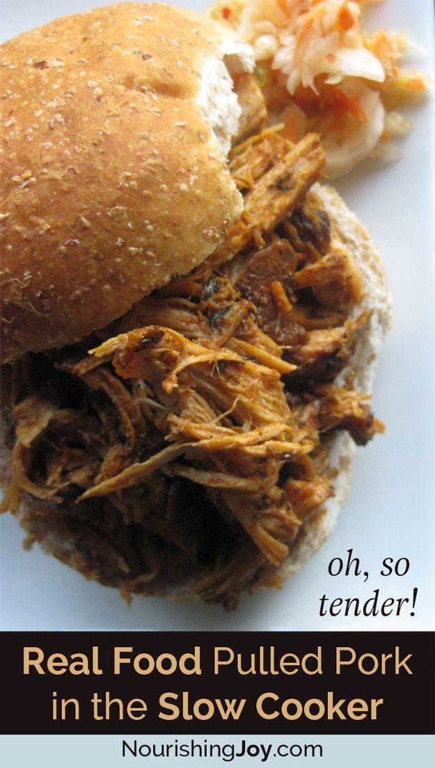 BBQ Crockpot sacó cerdo Receta | http://artesaniasdebricolaje.ru/diy-recipes-bbq-ideas/